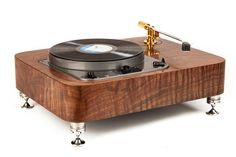 WOODSONG AUDIO GARRARD 301 CLASSIC SINGLE ARM PLINTH IN CLARO WALNUT Garrard Turntable, Stereo Turntable, High End Turntables, Bang And Olufsen, Record Storage, Hifi Audio, Cool Tech, Record Player, Boombox