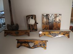 Most to all of my Art items are from Upcycled material. These are same items, just a different shot.