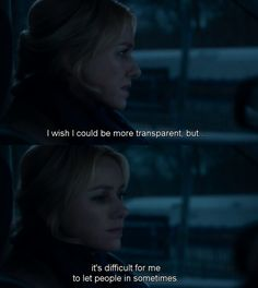 """""""I wish I could be more transparant, but it's difficult for me to let people in."""" Gypsy (Netflix)"""