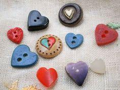 10 heart buttons