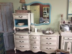 French Provincial, Queen Size Bed Room Set, Headboard, Nightstand and Dresser on Etsy, $799.00