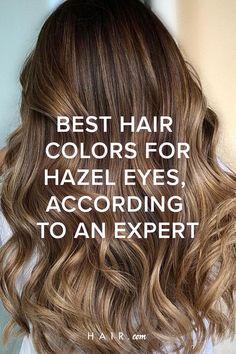 Brown Hair For Hazel Eyes, Hazel Eyes Hair Color, Hair Colour For Green Eyes, At Home Hair Color, Cool Hair Color, Hair Colors, Colorful Highlights In Brown Hair, Honey Brown Hair Color, Hairstyle Ideas