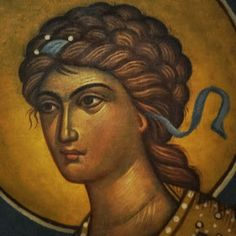 Archangel Michael by Photis Kontoglou Byzantine Art, Archangel Michael, Hand Painted, Portrait, Drawings, Illustration, Angels, Painting, Vintage Stuff