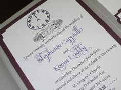 photos of New Years wedding invitations | New Years Eve Wedding Invitation Sample. 6.50$ USD, via BellaMEvents ...