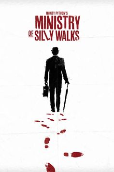 Minimal movie posters - Ministry of Silly Walks (love this one)