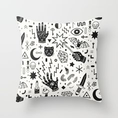 A magical design, now in black on white.<br/> <br/> <br/> magic, witch, occult, halloween
