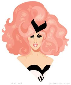 Adore Delano from RuPaul's Drag Race by Chad Sell