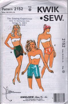 Kwik Sew 2152  Misses Lingerie Pattern Body Shapers Pattern Panty, Long Leg and Open Bottom Girdle womens sewing pattern  in by mbchills