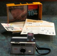 Vintage Kodak Instamatic 104 with Box and Manuals by LeftoverStuff