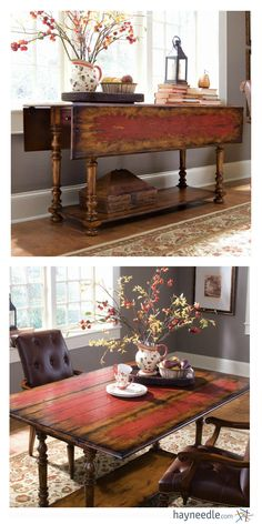 What a complete charmer the Red Splash Drop Leaf Accent Table is. Like the perfect match, it's versatile, ready for anything, and has just the right amount of worldliness. How could you not take this one home to mom? Use it as a desk, dining table, or console - the two drop-leaves save space when you need it.