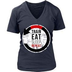 Train Eat Sleep Repeat Brazilian Jiu Jitsu T-shirt