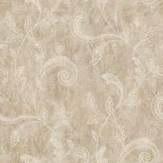 Sapphire Oasis Taupe, Grey and Gold Paisley Trail Wallpaper