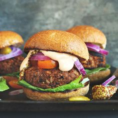 An easy, grillable veggie burger in just 30 minutes! Flavorful, hearty and perfect for summertime grilling.