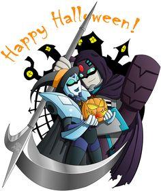 Longarm and Blurr Halloween by bbpuyo on DeviantArt
