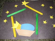 Awesome preschool Baby Jesus craft.