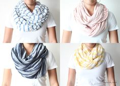 DIY Infiniti scarves. Done!