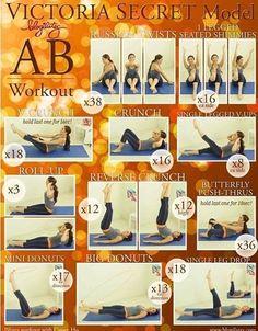 Victoria's Secret model an workout!