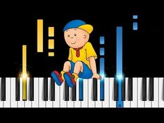 """How to play the Caillou theme song on piano! Listen to our """"Caillou"""" piano cover and learn how to play it yourself with our piano lessons. Piano Tutorial, Piano Cover, Caillou, Pbs Kids, Piano Lessons, Theme Song, Songs, Learning, Youtube"""