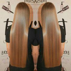 One Length Hair, Waist Length Hair, Perfect Blonde Hair, Brown Blonde Hair, Haircuts For Medium Hair, Straight Hairstyles, Dipped Hair, Long Dark Hair, Beautiful Hair Color