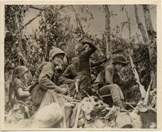 US Marines battle Japanese forces during Operation Stalemate II, otherwise known as the Battle of Peleliu island (present day Palau) Sept-Nov 1944. Contrary to initial assessments predicting a short conflict, stiff Japanese resistance and heavy fortifications forced the Marines into a fierce 2-month battle of attrition. The Peleliu casualty rate was the highest for U.S. military personnel of any battle in the Pacific War.