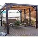 Auvent de terrasse bois avec ventelles 10mc VT3531