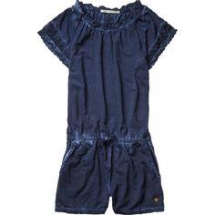 TUTA CORTA BIMBA SCOTCH R'BELLE Tuta corta da bambina della Scotch R'Belle in tessuto jersey di colore blu notte con effetto slavato, un romantico pizzo e particolari all'uncinetto donano a questo capo un design supercool. #scotchsoda #scotchrbelle #tuta #jersey #shorts #playsuitshort #estate #summer #spring #primavera #abbigliamento #clothing #bambina #bimba #ragazza #girl #child #children #teeneager #kids #junior #teen #shopping #negozionline #eshop #ecommerce #fashion #moda