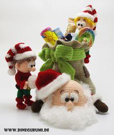 Die Anleitung ist deutsch und im PDF-Format. Sie besteht aus: 37 Seiten, 90 Bildern, 2,8mb Dateigröße  Benötigte Häkelkenntnisse: Luftmaschen, Kettmaschen, Festmaschen.  Der Weihnachtsmann ist...