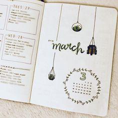 Feb ➝ March :: here we go! #bulletjournal #bujo #handlettering #planneraddict #calendar #bulletjournalmonthly #march #planwithme #bujoideas #bulletjournaladdict #showmeyourplanner #doodles #Regram via @la.petitecherie)
