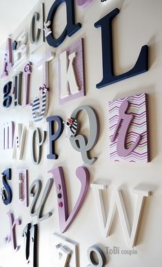 Wooden letters Wooden Alphabet Letters, Abc Wall, Letter Set, Kids Room, Child Room, Playroom, Room Decor, Nursery, Lettering