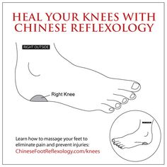 reflexology for knees, knee pain, knee problems, reflexology
