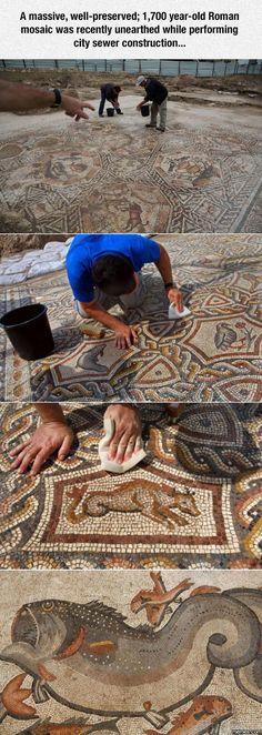 1,700 Year-Old Roman Mosaic http://funphotololz.com/random/1700-year-old-roman-mosaic/