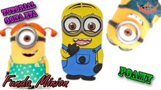 ♥ Tutorial: Funda Minion de Móvil o Celular de Goma Eva (Foamy) ♥