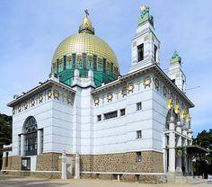 Sacred Architecture, Art Nouveau Architecture, Otto Wagner, Vienna Secession, Vienna Austria, Taj Mahal, Building, Design, Vienna