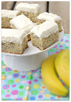 Banana Bars with Cream Cheese Frosting « Just Baked