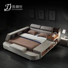 Di Yu Xuan leather tatami beds leather beds double beds 1.8 m storage bed modern minimalist bedroom