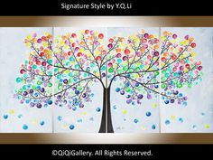 Abstract Painting Original Modern Impasto Painting por QiQiGallery