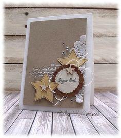 carte Noel étoiles et couture