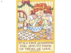 It Is A Fine Seasoning-Handmade Fridge Magnet -Mary Engelbreit Artwork Merry Little Christmas, Christmas Fun, Vintage Christmas, Christmas Cards, Christmas Images, Mary Engelbreit, Christmas Drawing, Illustrations And Posters, Favorite Holiday