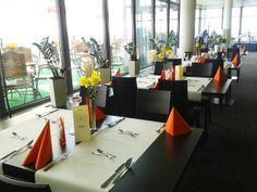 Spring in Vidok! Yellow and orange details in our Restaurant. Ladies and gentlemen - we invite you to the dancefloor and friday's concert: Crazy Hats band! 11th of April, start at 8.00 P.M.