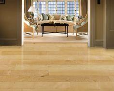 Natural maple hardwood floors by W D Flooring. wdflooring.com
