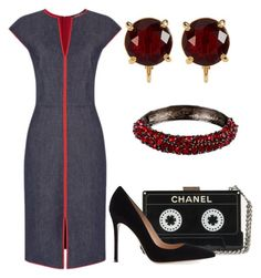 """Без названия #2599"" by claire-hamilton-bristol on Polyvore featuring мода, Gianvito Rossi, Carolee и Kenneth Jay Lane"