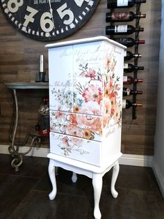 Painted Furniture with transfer
