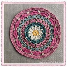 Ekte Lykke: The Daisy Mandala pattern and tutorial