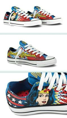 love 'em | Rocky! | Wonder Woman, Women, Me too shoes Woman Shoes wonder woman converse shoes