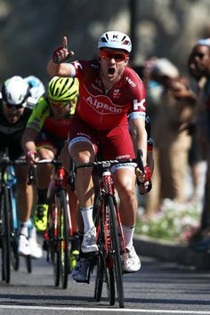 Alexander Kristoff of Norway and Team Katusha Alpecin celebrates winning stage six of the 8th Tour of Oman a 1305km road stage from The Wave Muscat...
