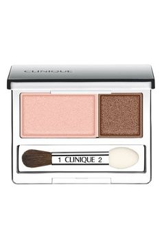 Clinique 'All About Shadow' Eyeshadow Duo available at #Nordstrom in Strawberry Fudge