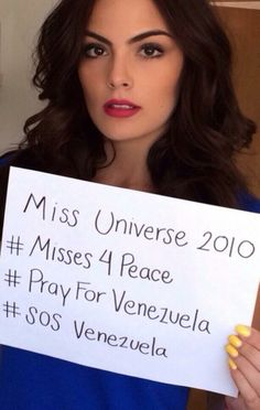 #Misses4Peace: Beauty Queens Campaign For Venezuela