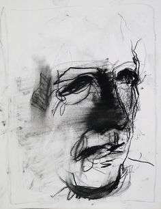 Tim Dayhuff - drawing - September 2014 - charcoal and white pastel on paper - 11 x 14 in