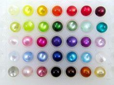 50 Polaris Perlen 10mm glänzend, Wunsch-Farb-Mix von Schmuckes von der Perlenbraut auf DaWanda.com