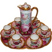 MUSEUM QUALITY~  Exquisite Antique Theodore Haviland Limoges France 15pc. Hand-Painted ..